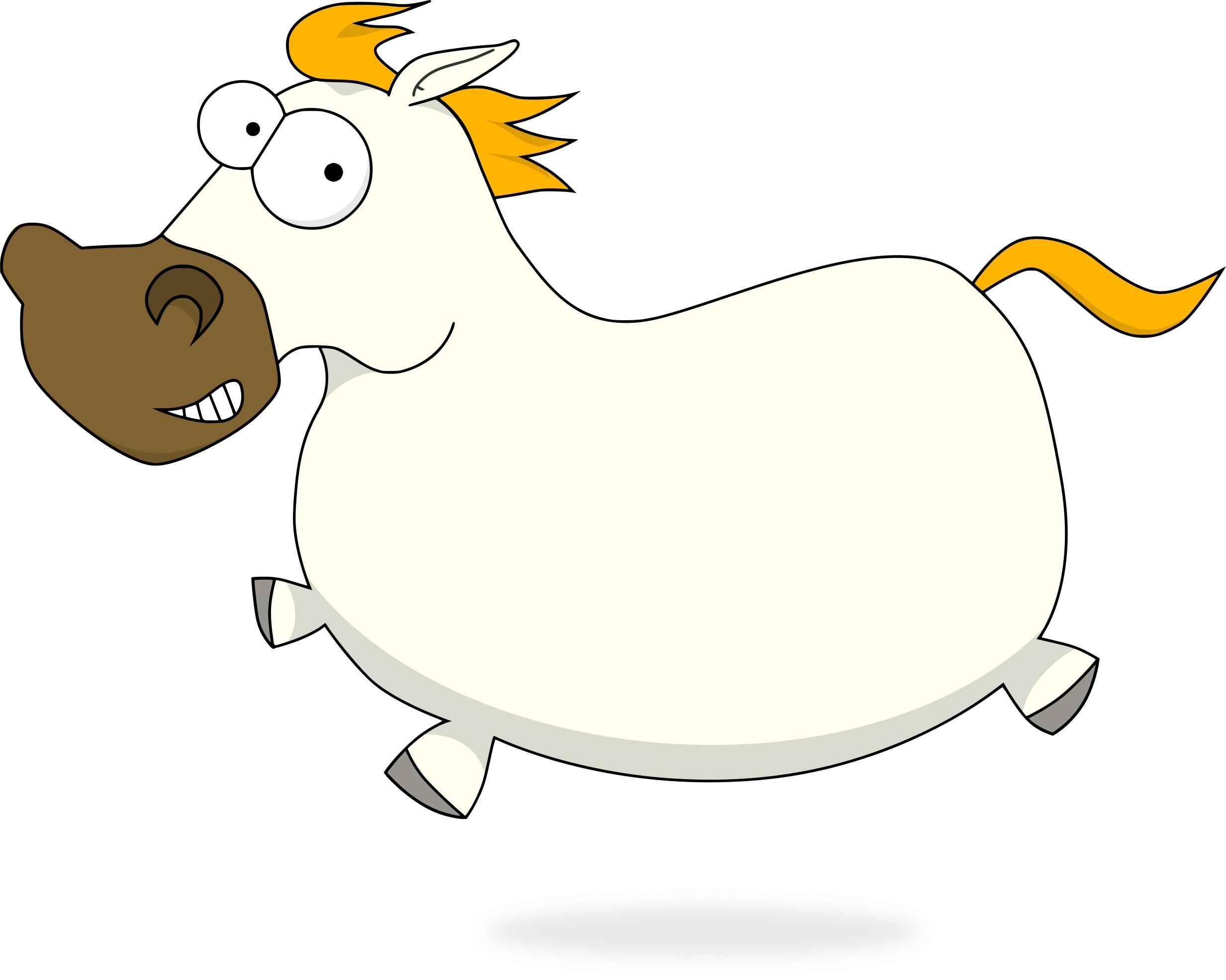 Main, the Pony mascot, galloping